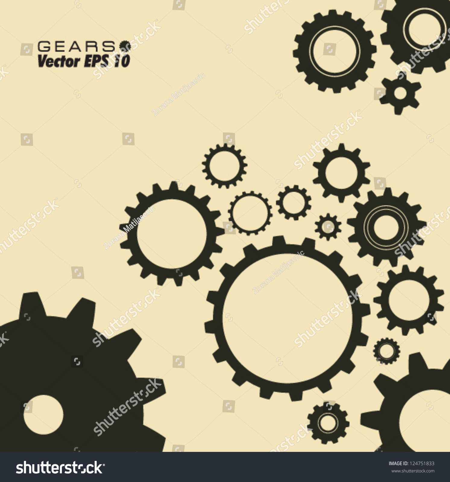 gears template stock vector royalty free 124751833 shutterstock
