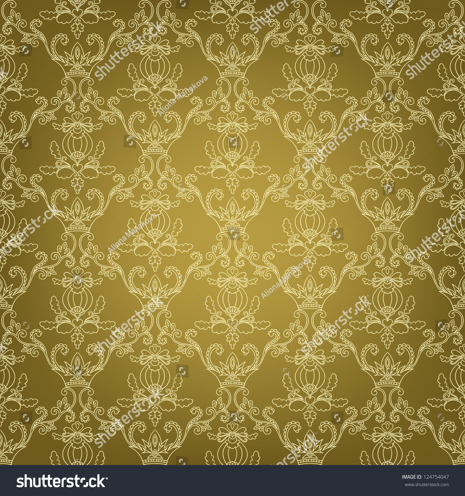 Seamless Floral Pattern Vector Web Page Stock Vector