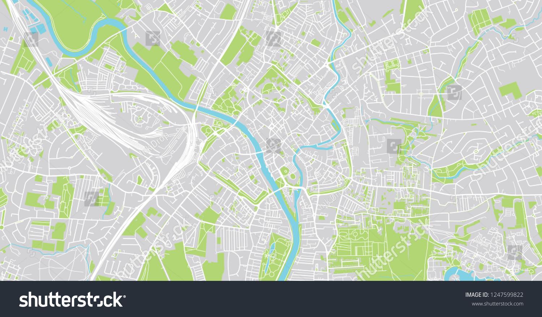 Map Of England Showing York.Urban Vector City Map York England Stock Vector Royalty Free
