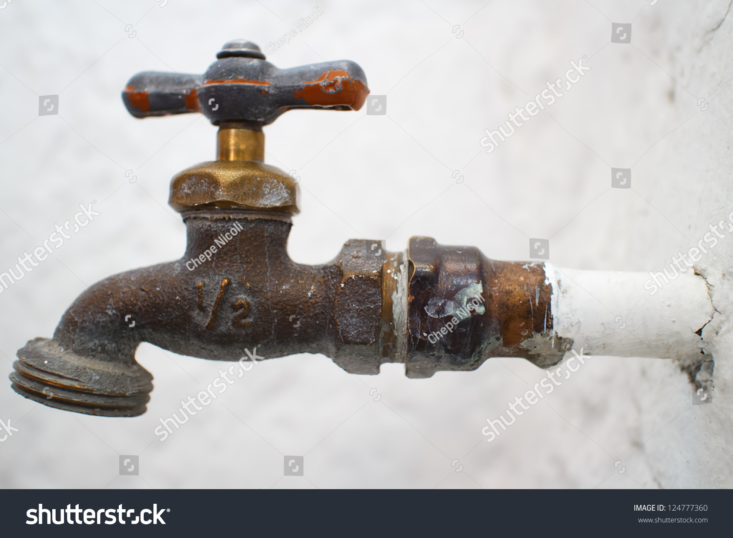 Old Water Faucet Very Shallow Depth Stock Photo & Image (Royalty ...