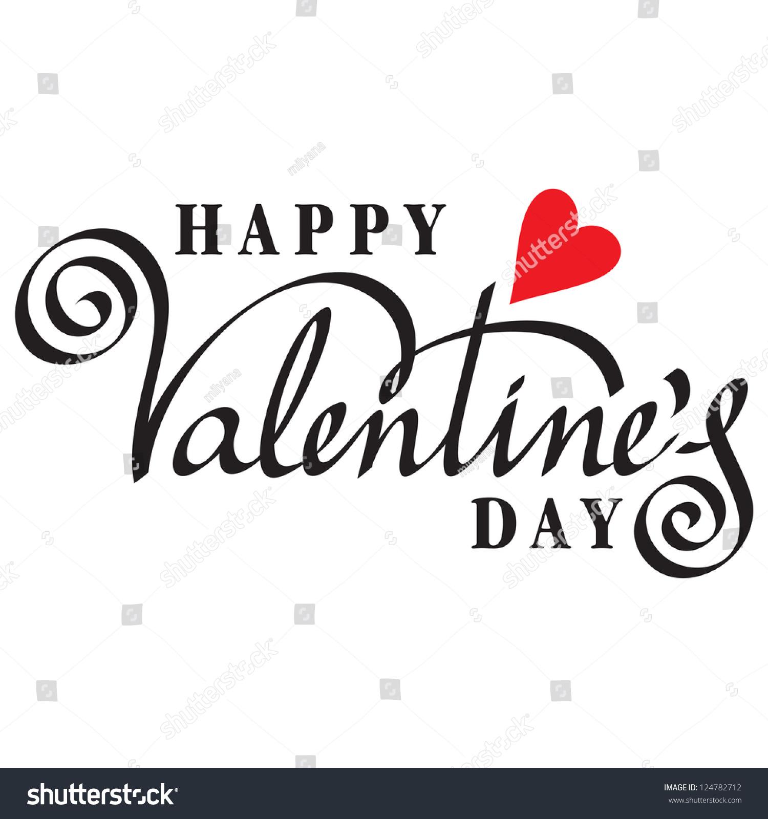 Happy valentine s day hand lettering handmade