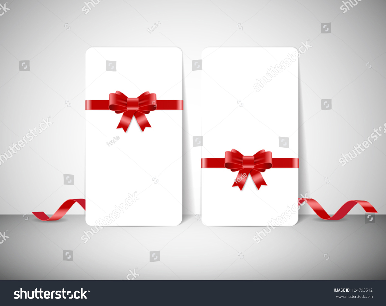 Two blank white vector greeting cards stock vector 124793512 two blank white vector greeting cards with silky ribbon bow knots m4hsunfo