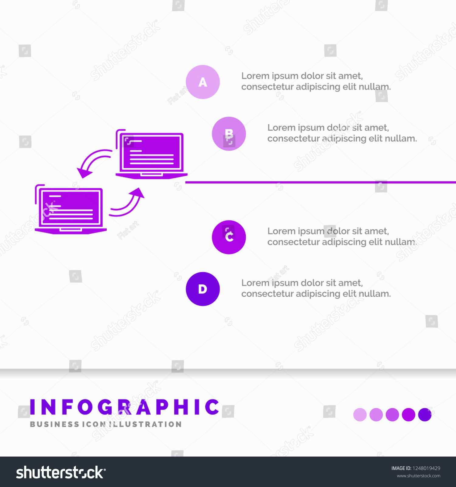 Computer Connection Link Network Sync Infographics Stock