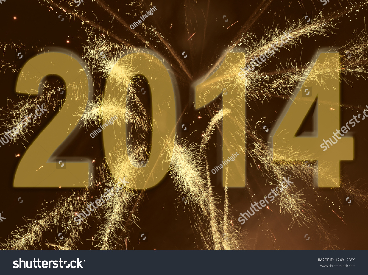 new year 2014 fireworks background stock photo 124812859