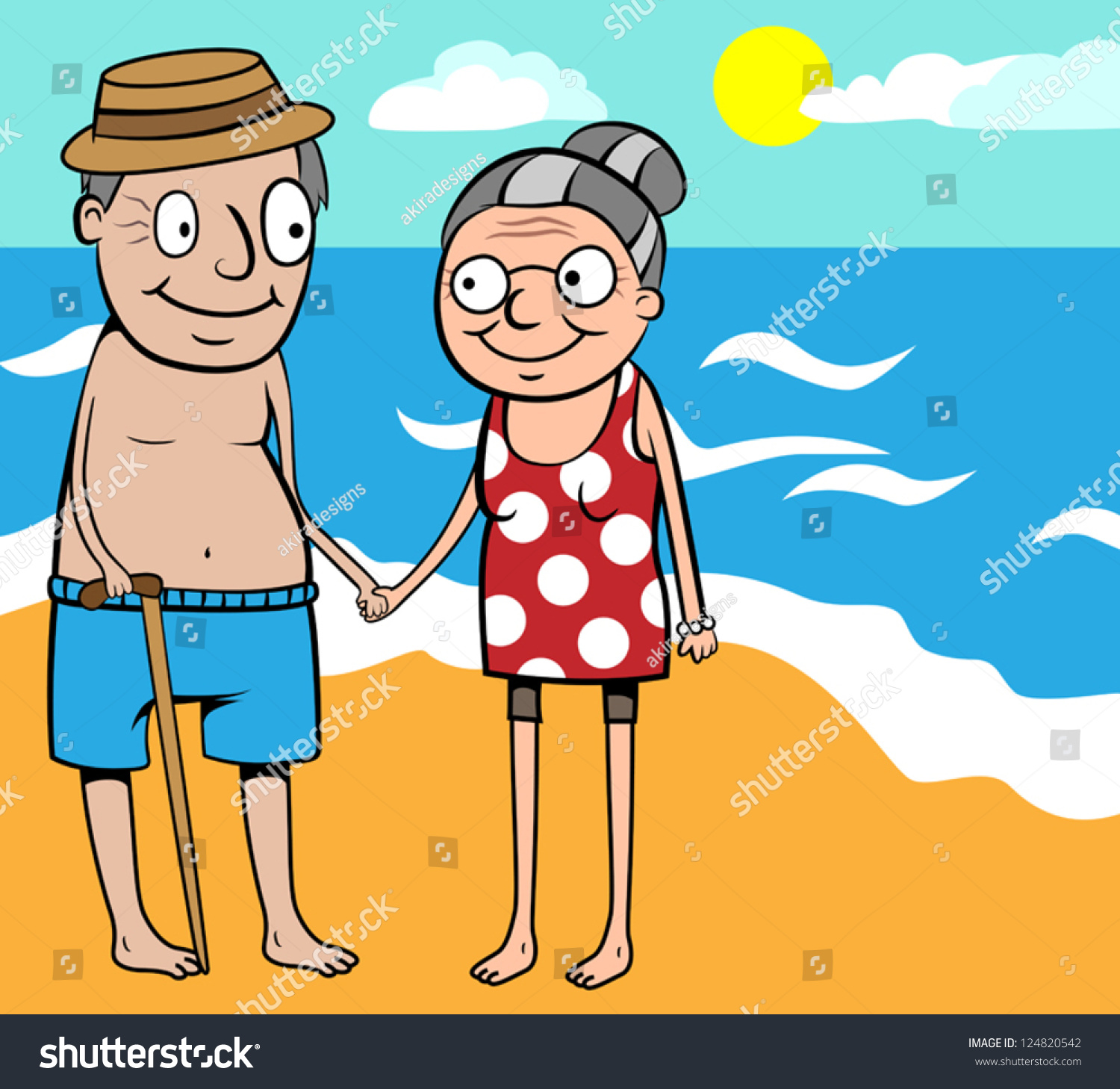 Showing post & media for Cartoon old elderly couple | www ...