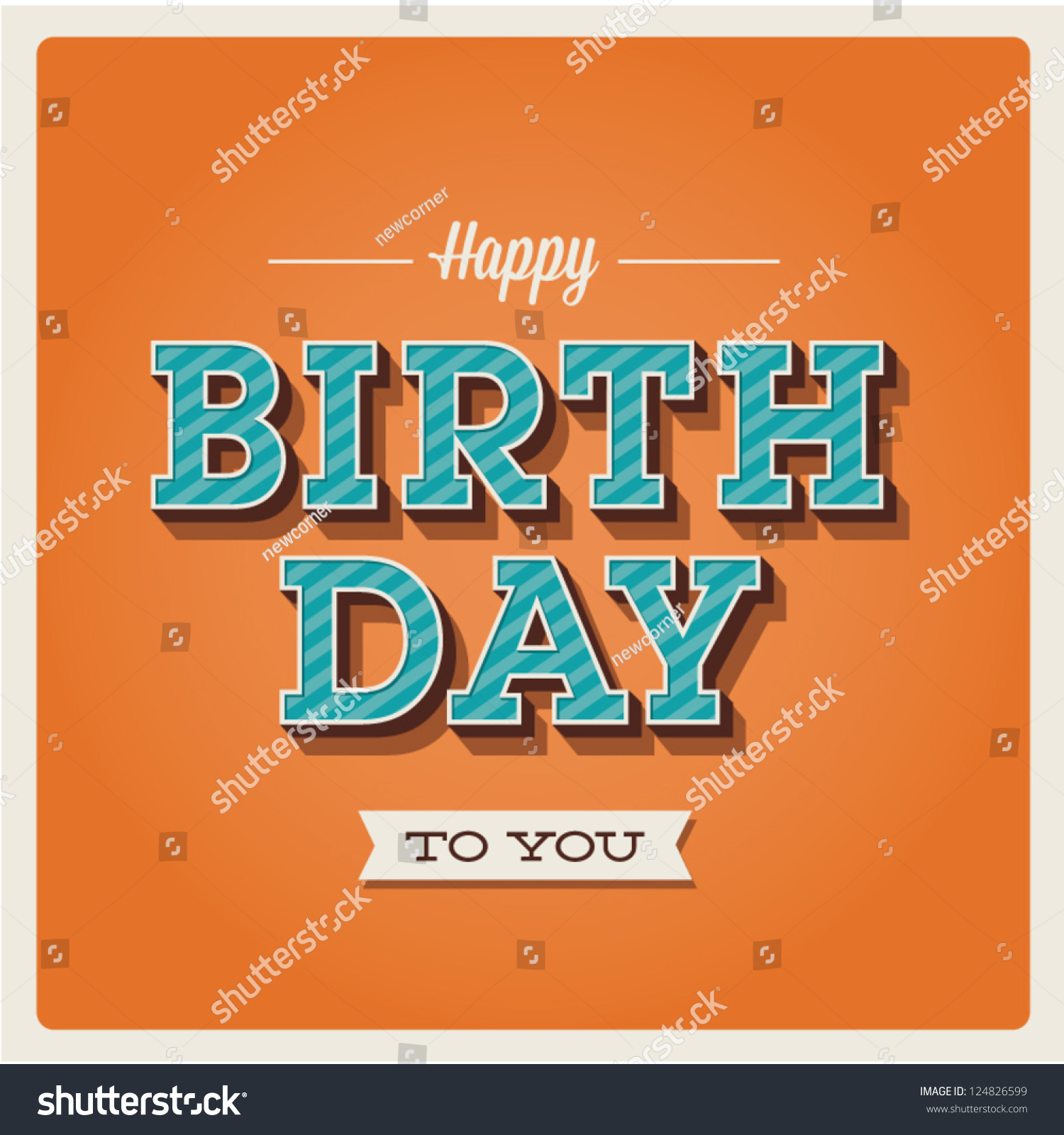 Happy birthday card retro vintage typography stock vector 124826599 happy birthday card retro vintage typography letters font type editable for happy birthday thecheapjerseys Images