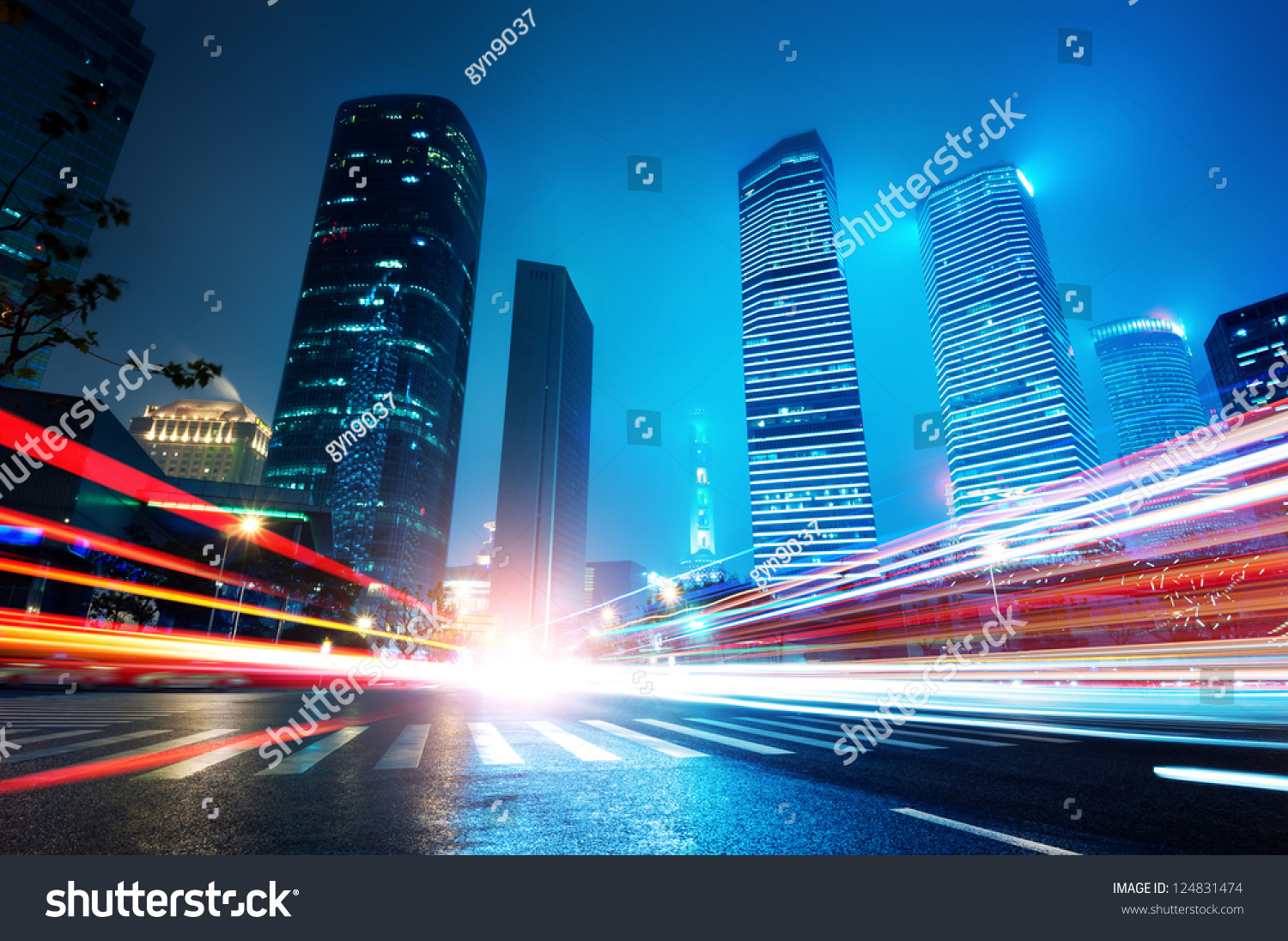stock photo shanghai lujiazui finance and trade zone of the modern city night background 124831474 - asdasd