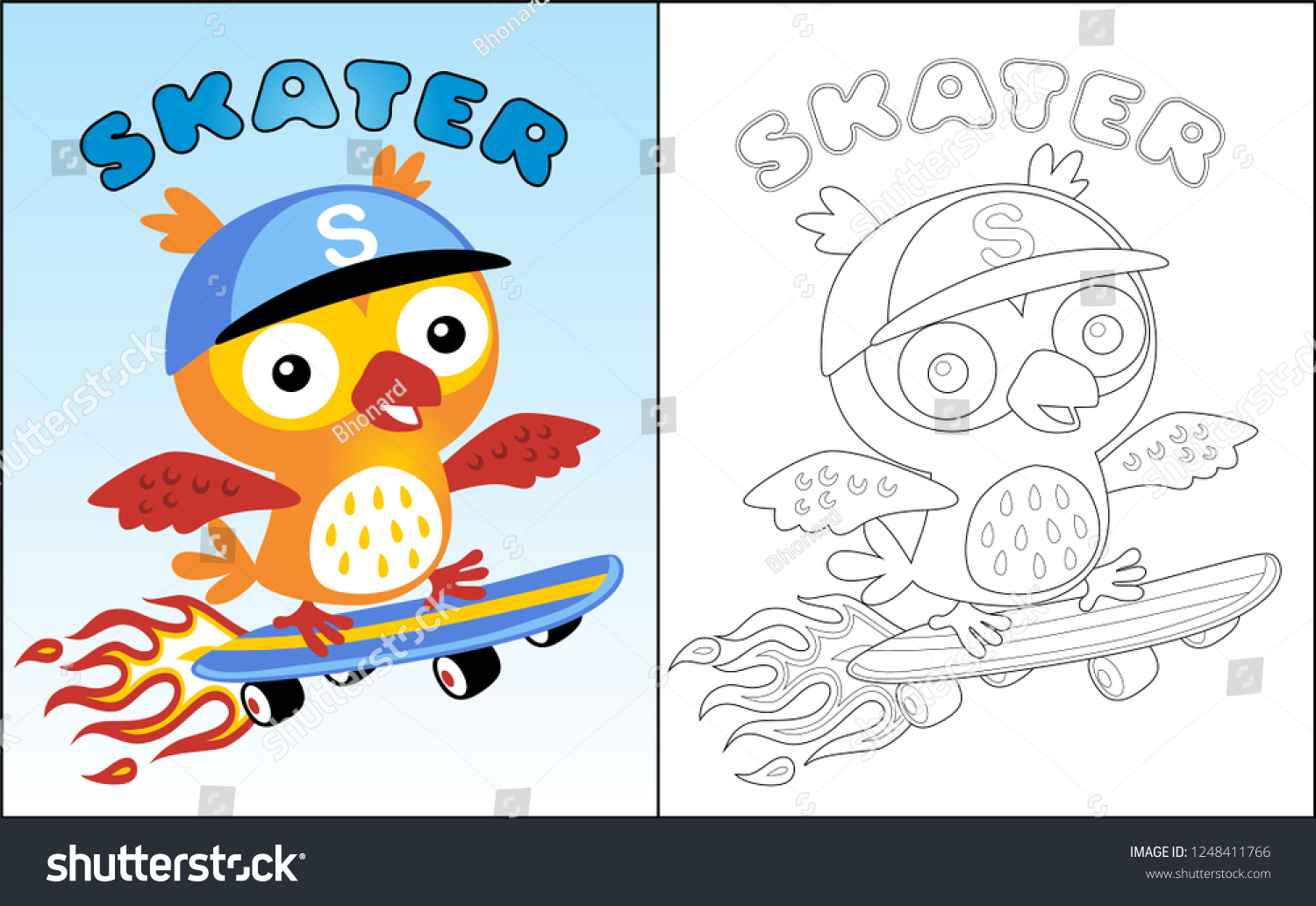 27 Best coloring skateboard images | Coloring pages, Skateboard ... | 1033x1500