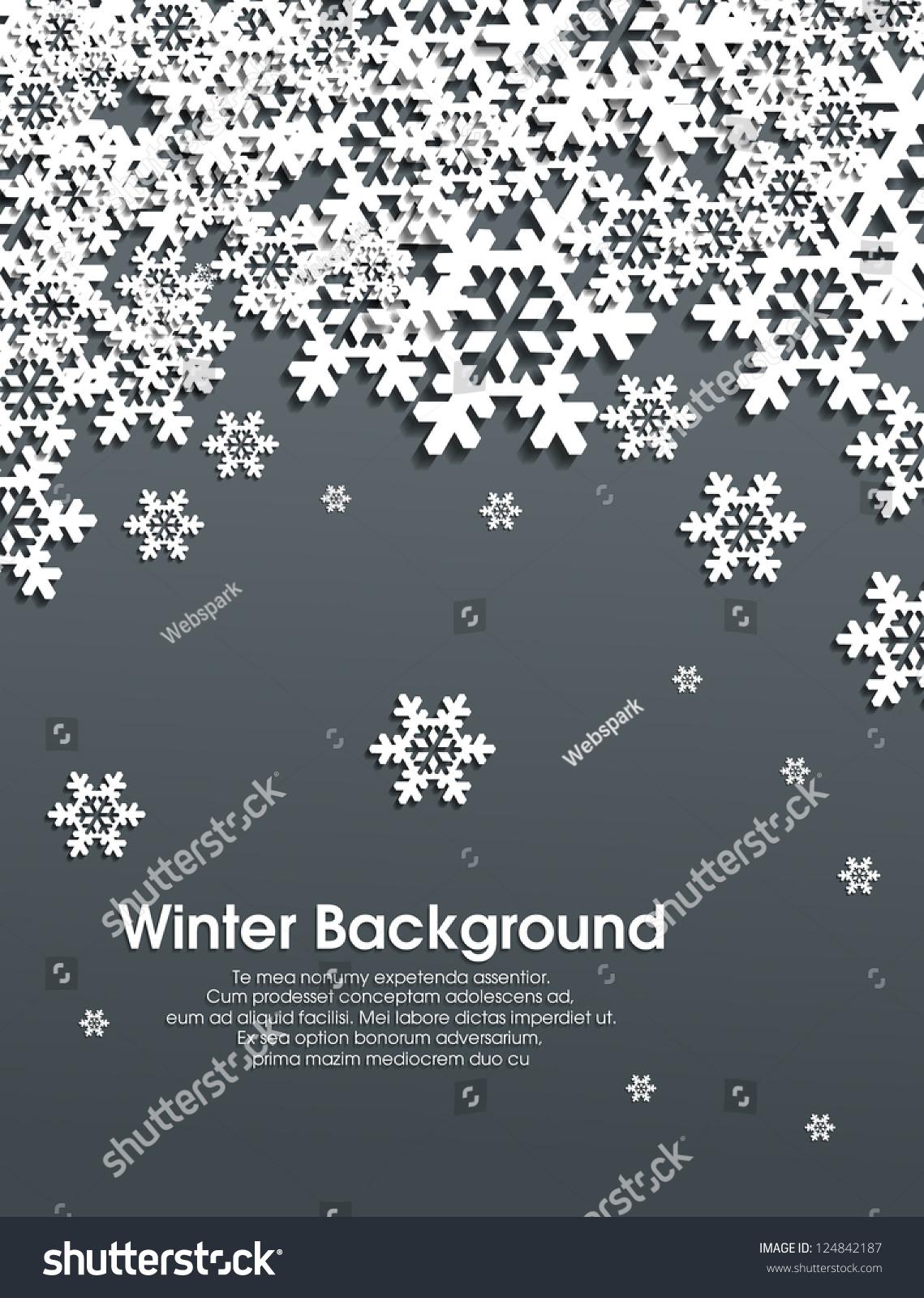 winter snowflakes background eps10 stock vector 124842187