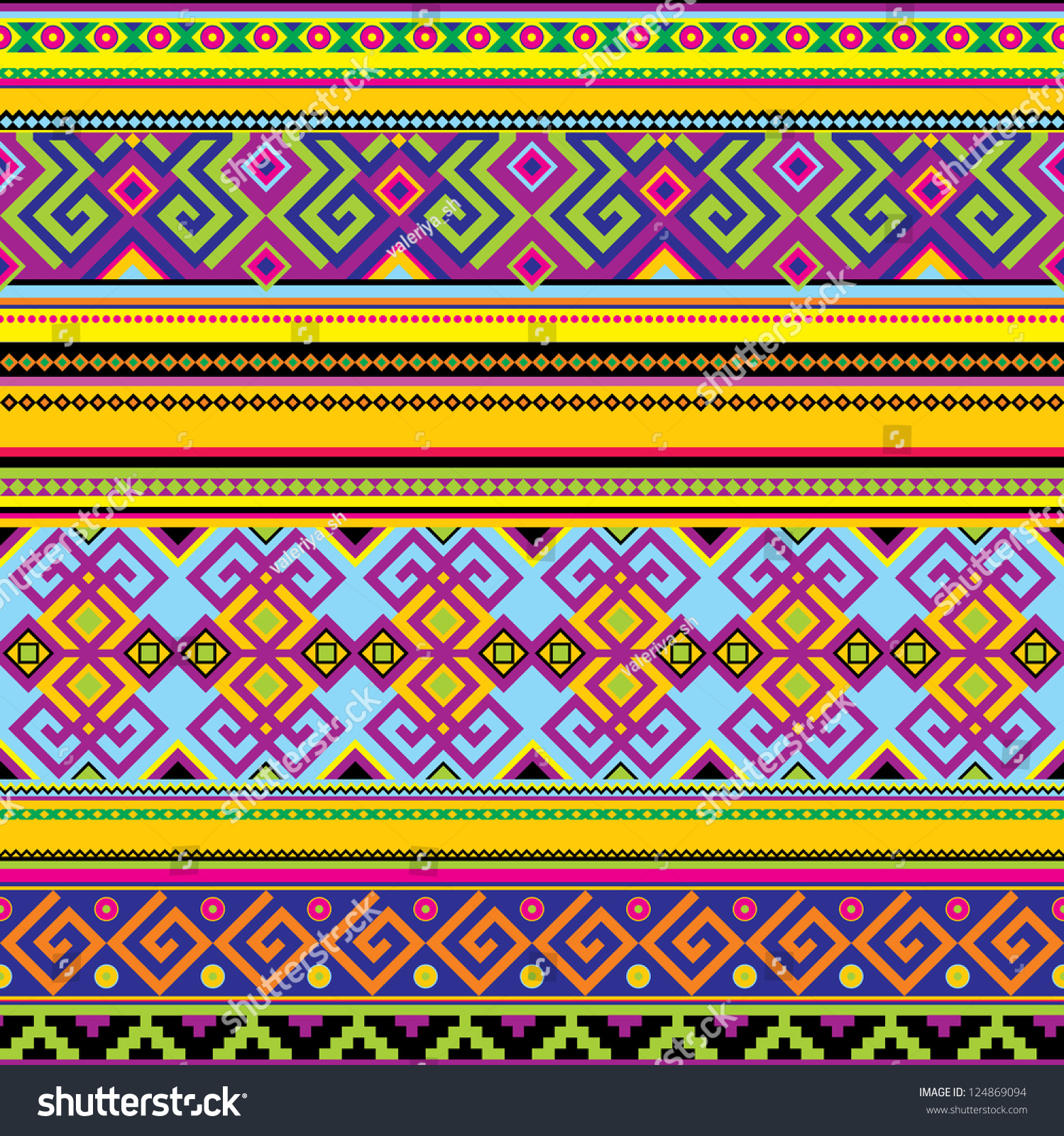 Background geometric mexican patterns seamless vector zigzag maya - Vector Seamless Background With A Mexican Pattern