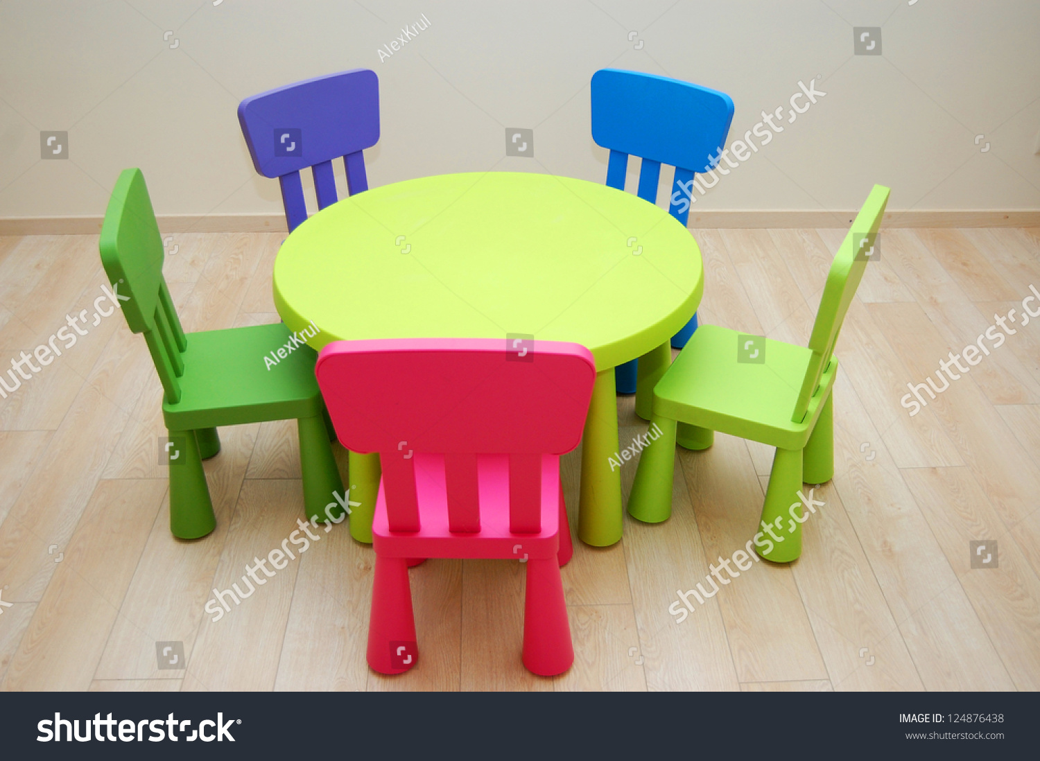 Montessori Kindergarten Preschool Classroom Table Chairs