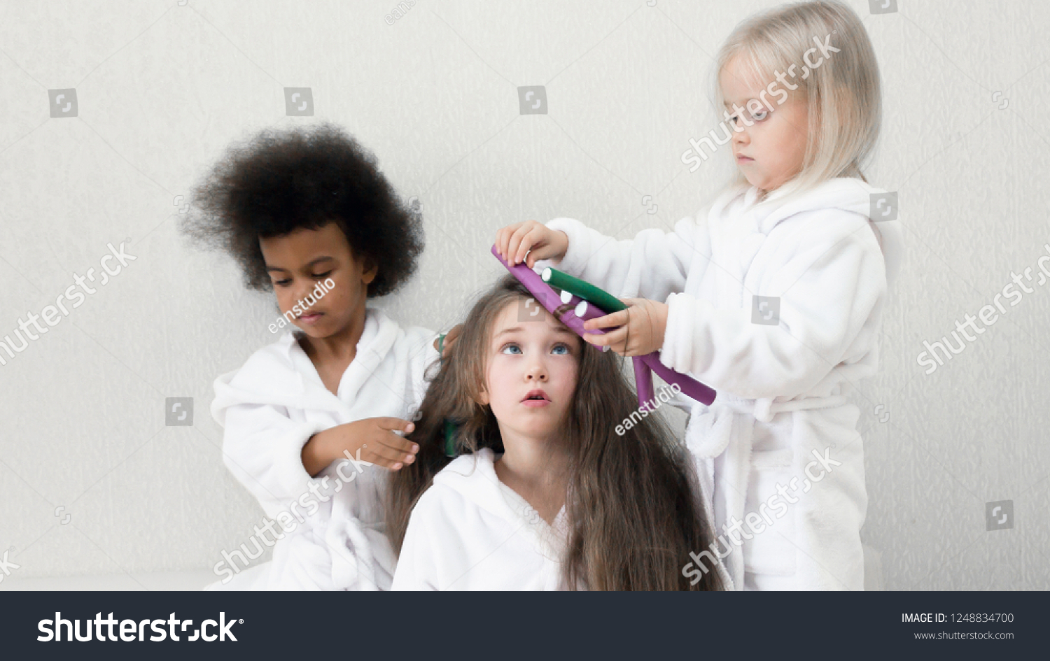 Play with girlfriends hair