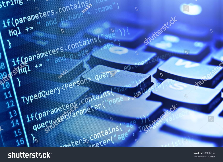 program code computer keyboard stock photo 124888153 shutterstock