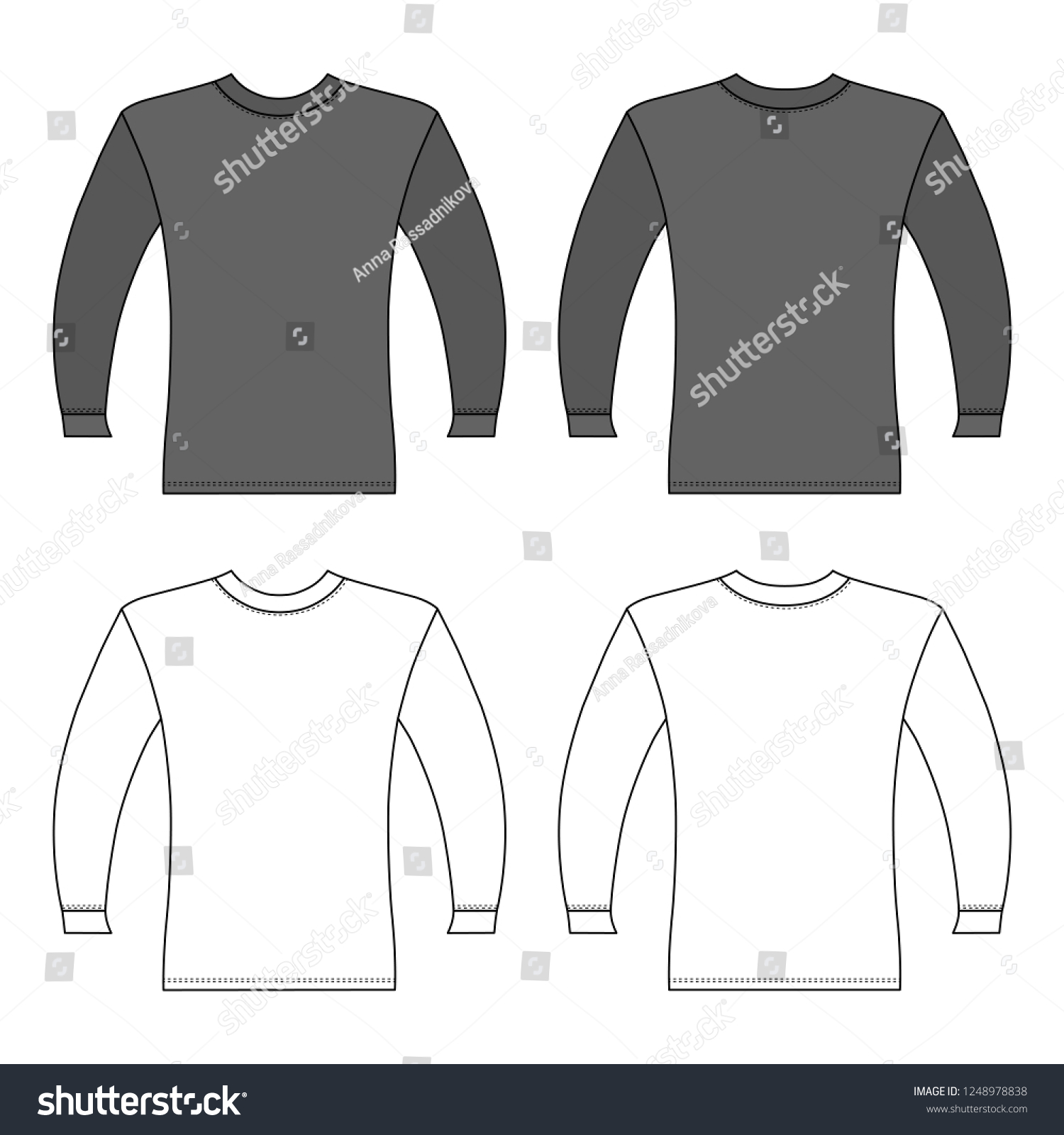 Royalty Free Stock Illustration Of T Shirt Man Template Front Back
