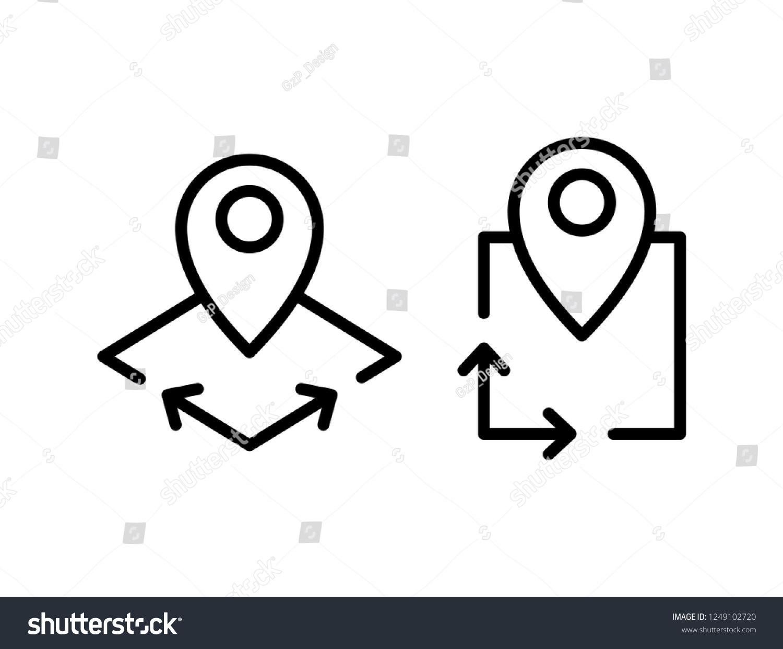 Area icon, vector illustration #1249102720