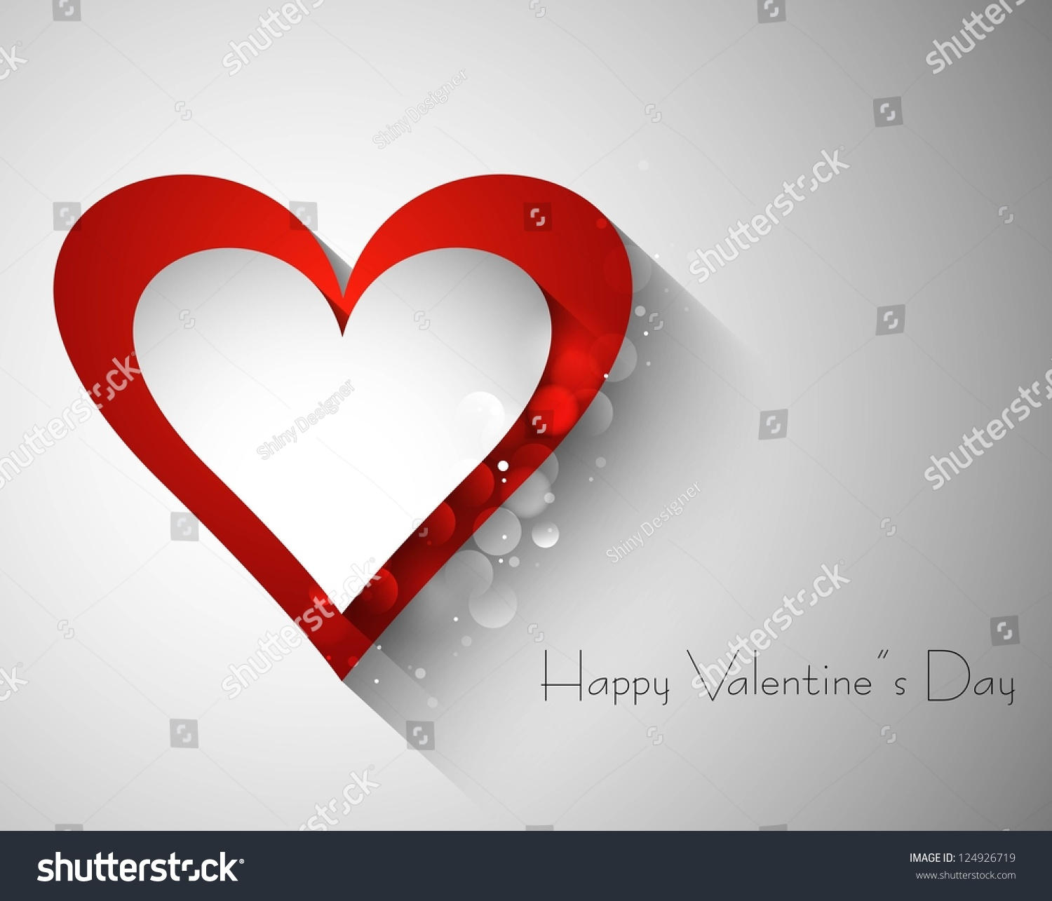 Red And Valentines Day Single Heart Vector