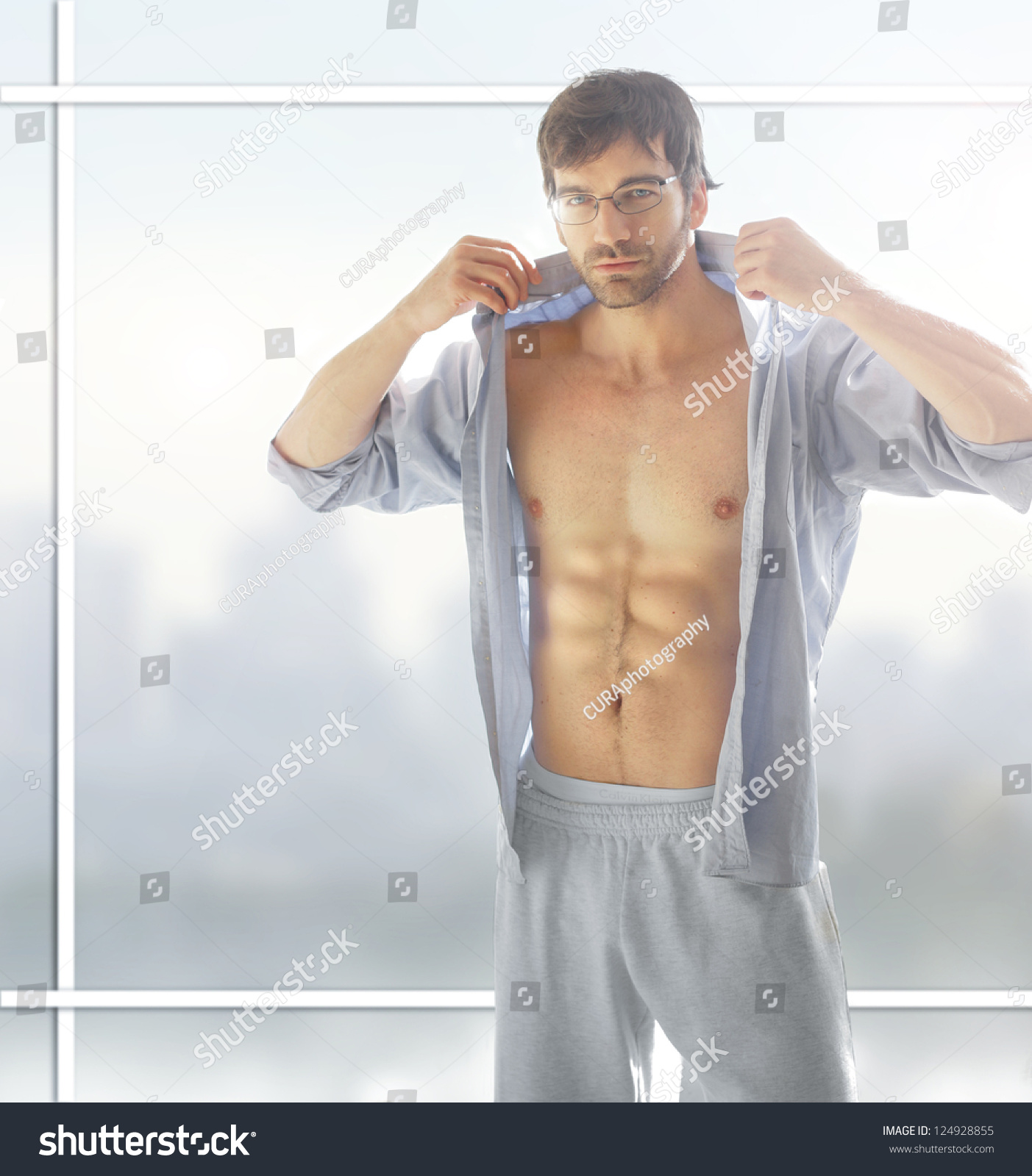 Sexy Male Model Hot Naked Body Stock Photo 124928855 -9393