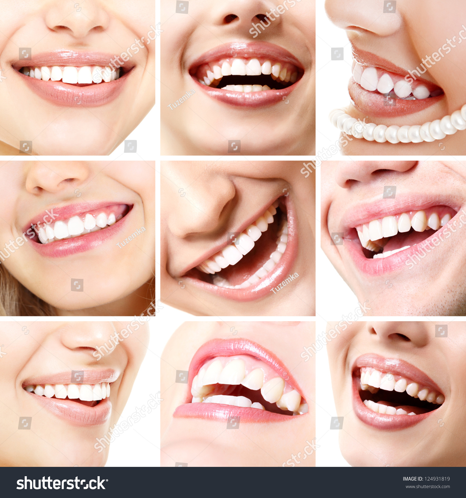 Perfect Smiles Collection Beautiful Wide Human Stock Photo ...