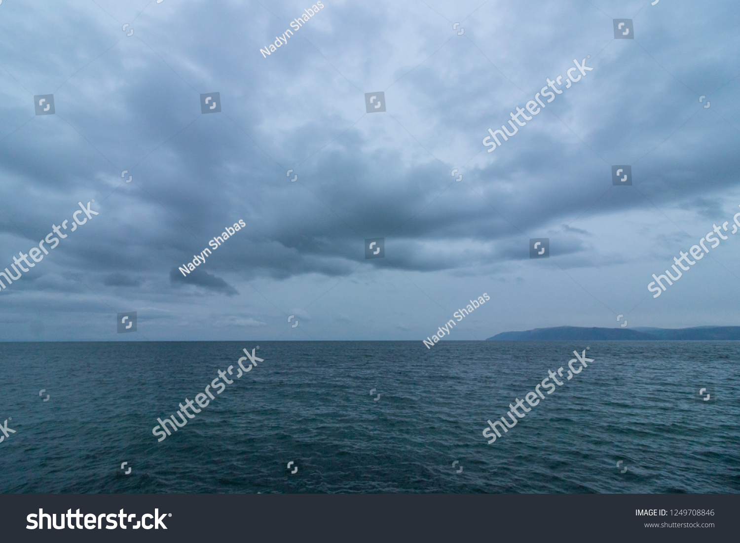 Cold Waters Lake Baikal Cloudy Evening Stock Photo (Edit Now