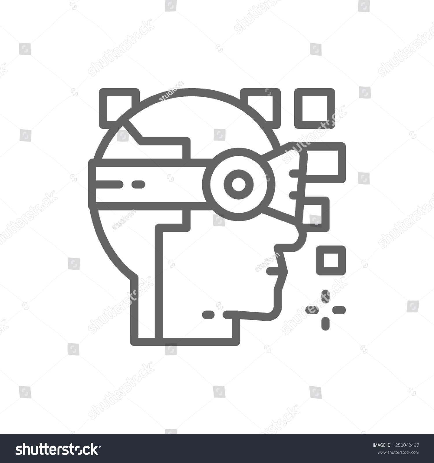Vector Robot Artificial Intelligence 360 Degree Stock Vector