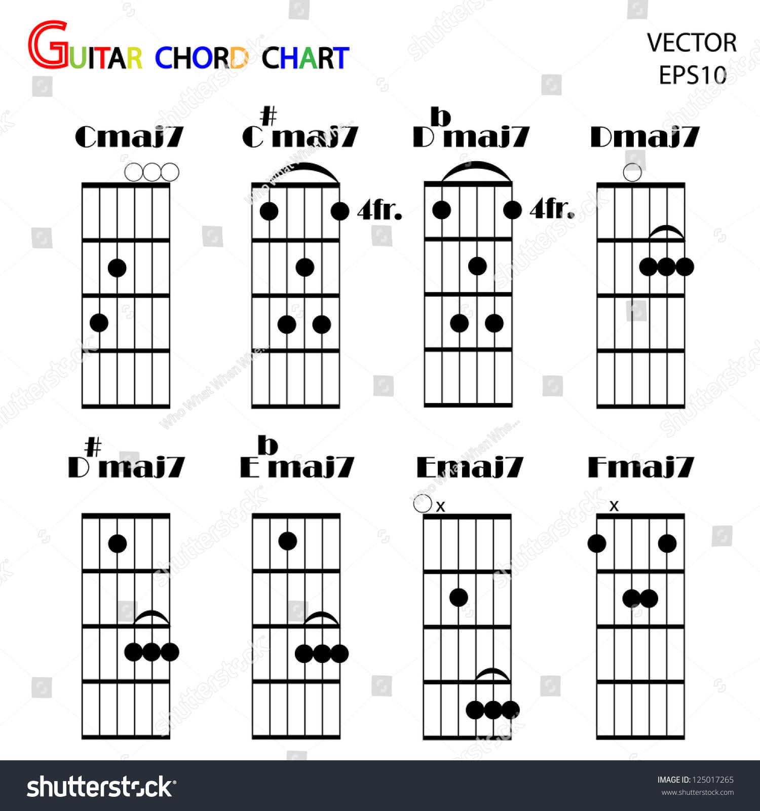 Basic guitar chords tab guitar chordsvector stock vector 125017265 basic guitar chords tab guitar chordsvector hexwebz Image collections