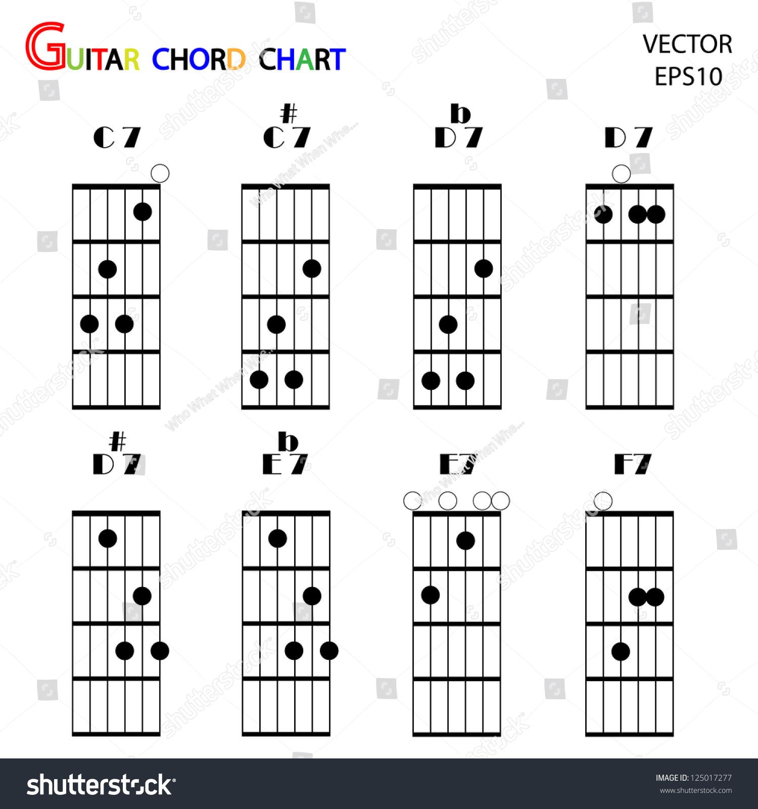 Basic guitar chords tab guitar chordsvector stock vector 125017277 basic guitar chords tab guitar chordsvector hexwebz Choice Image