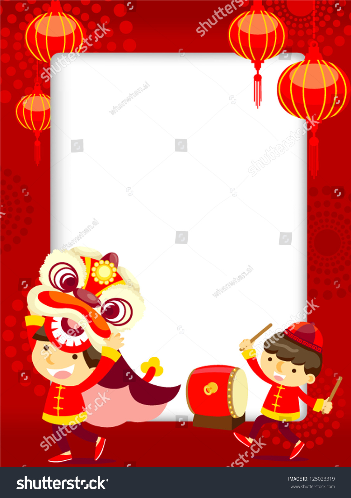 Chinese New Yearlion Dance Stock Vector 125023319 - Shutterstock