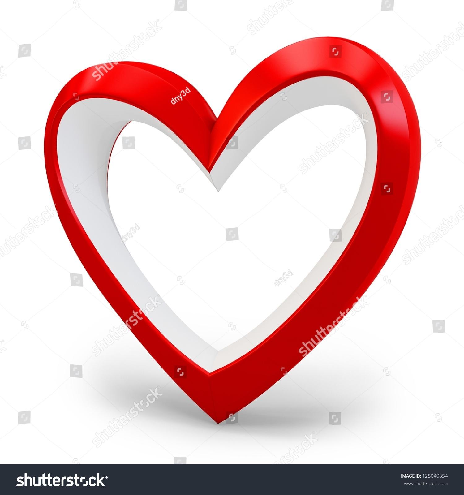 3 D Heart Shape Love You Symbol Stock Illustration 125040854