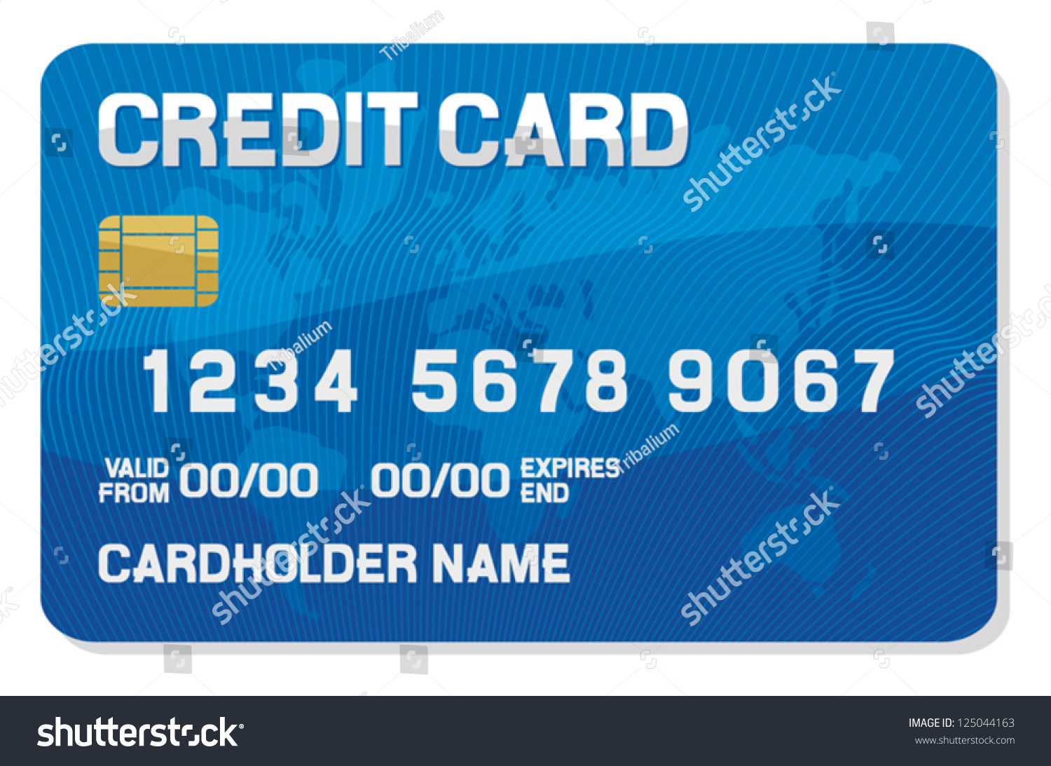 Credit Card With A Smart Chip Stock Vector Illustration