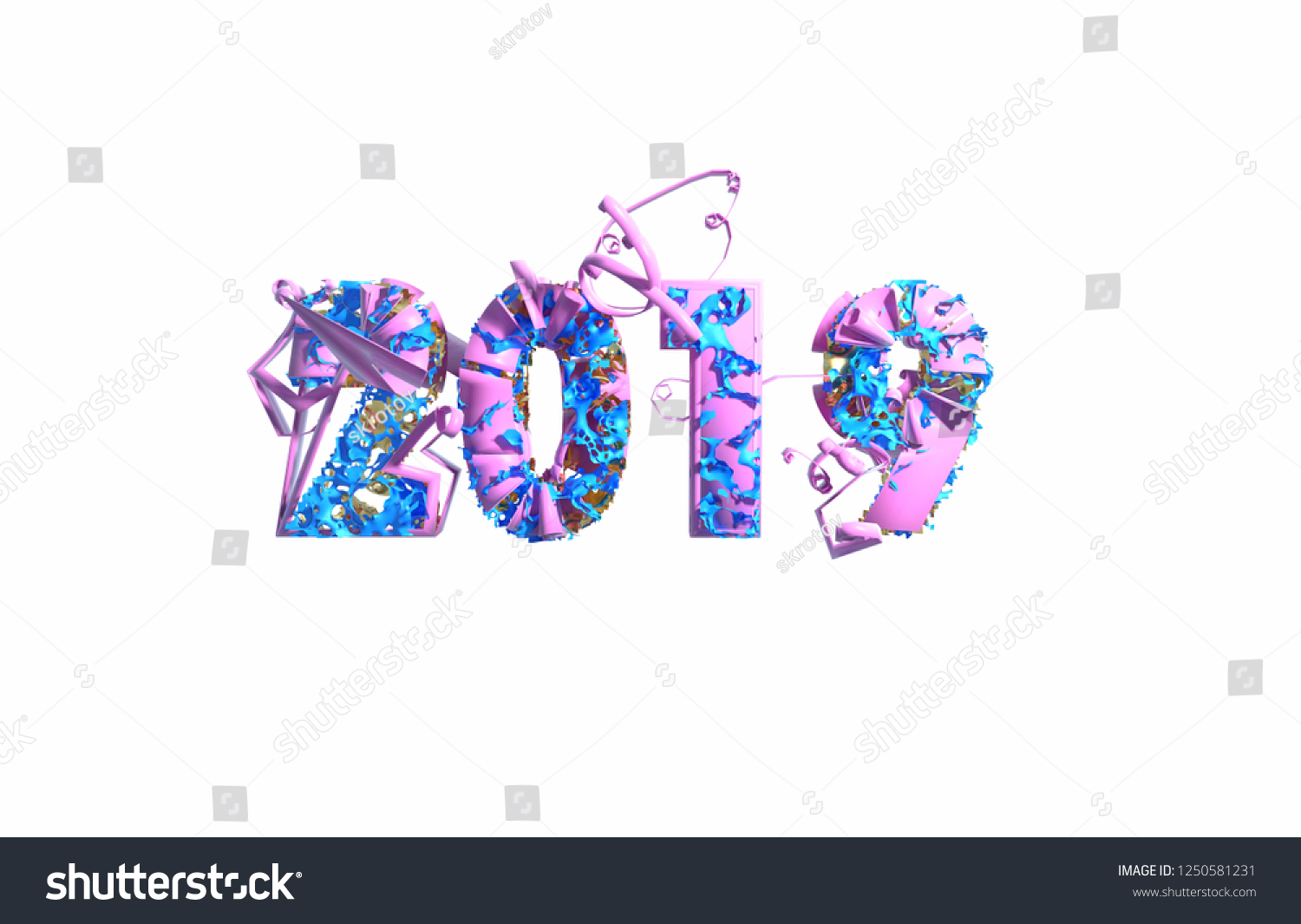 Royalty Free Stock Illustration Of Happy New Year Banner 2019 Trendy