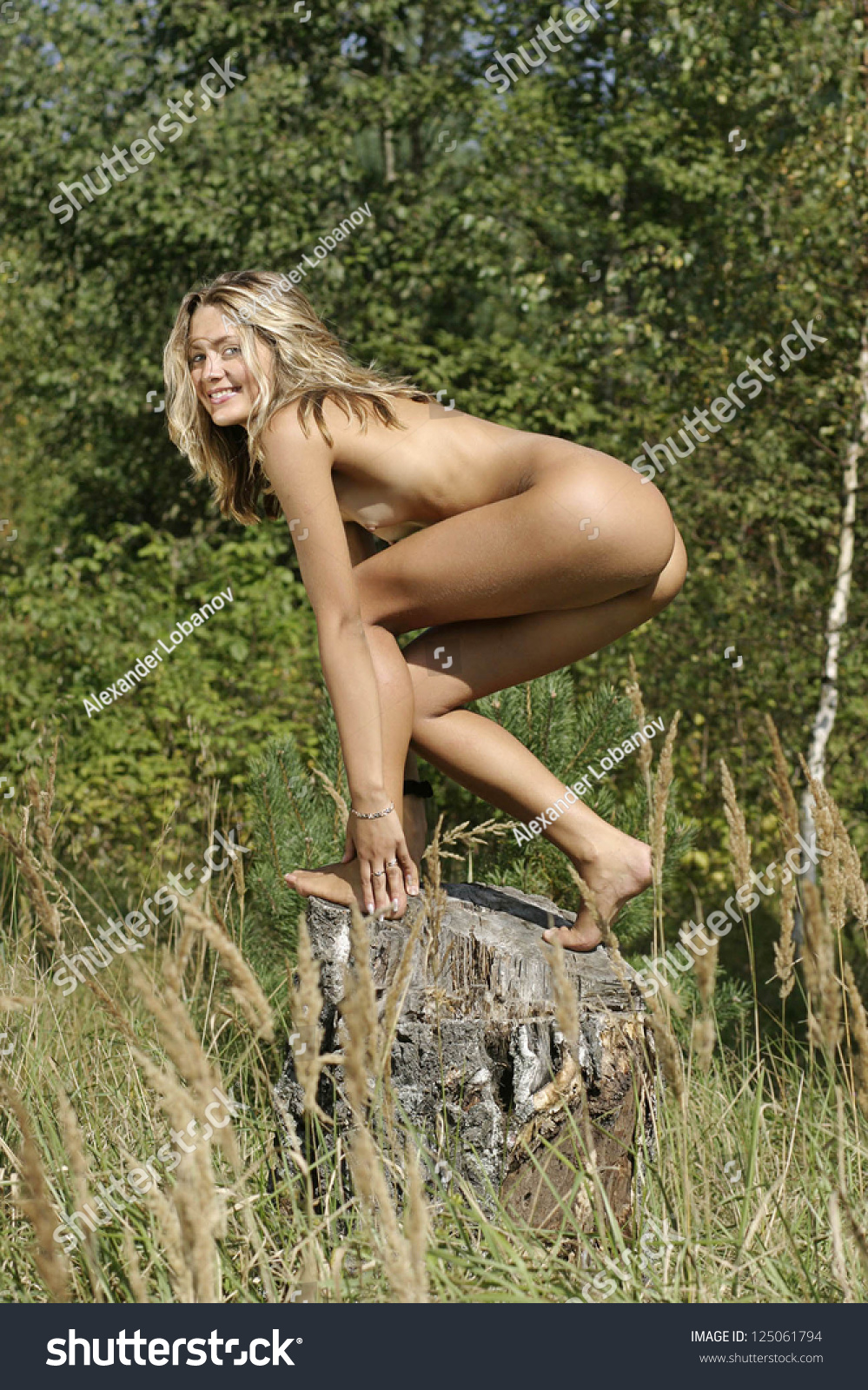in Naked park girl