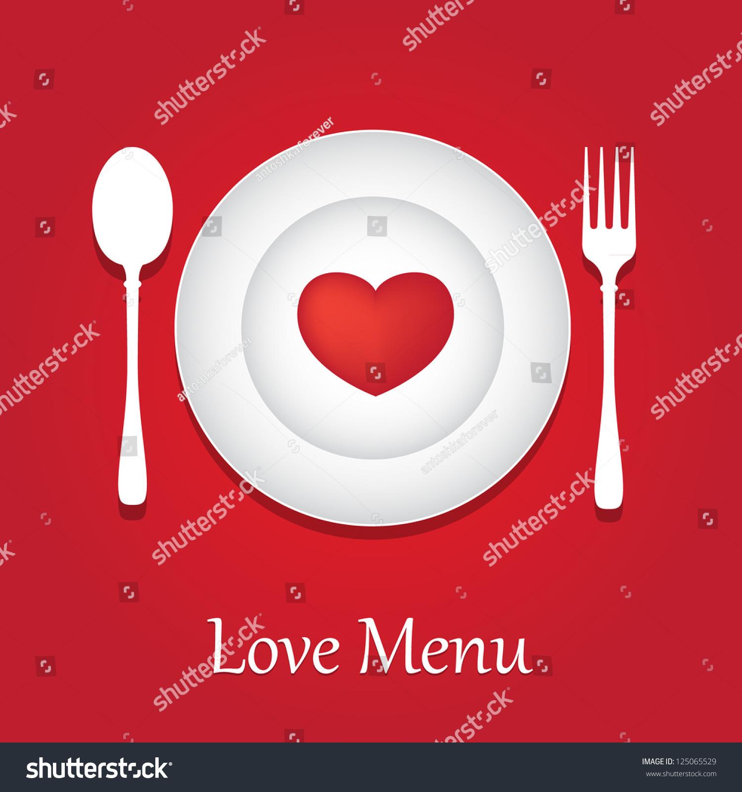 Template Valentine Day Restaurant Menu Card Vector 125065529 – Template for Valentine Card