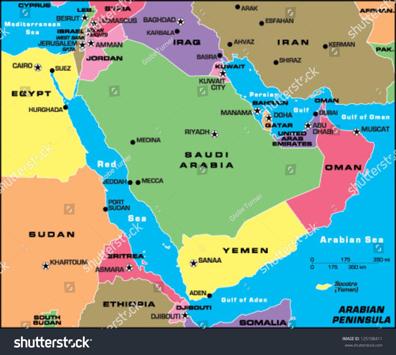arabian peninsula stock vector hd royalty free 125108411 shutterstock