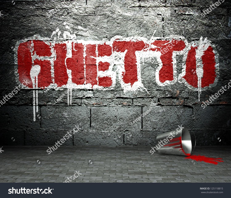 Graffiti Wall Ghetto Street Art Background Stock