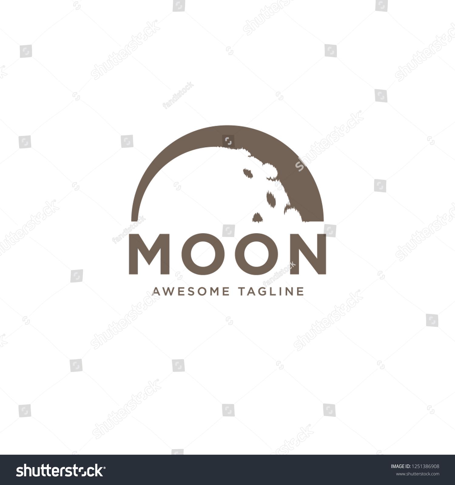 half moon logo design template inspiration stock vector royalty