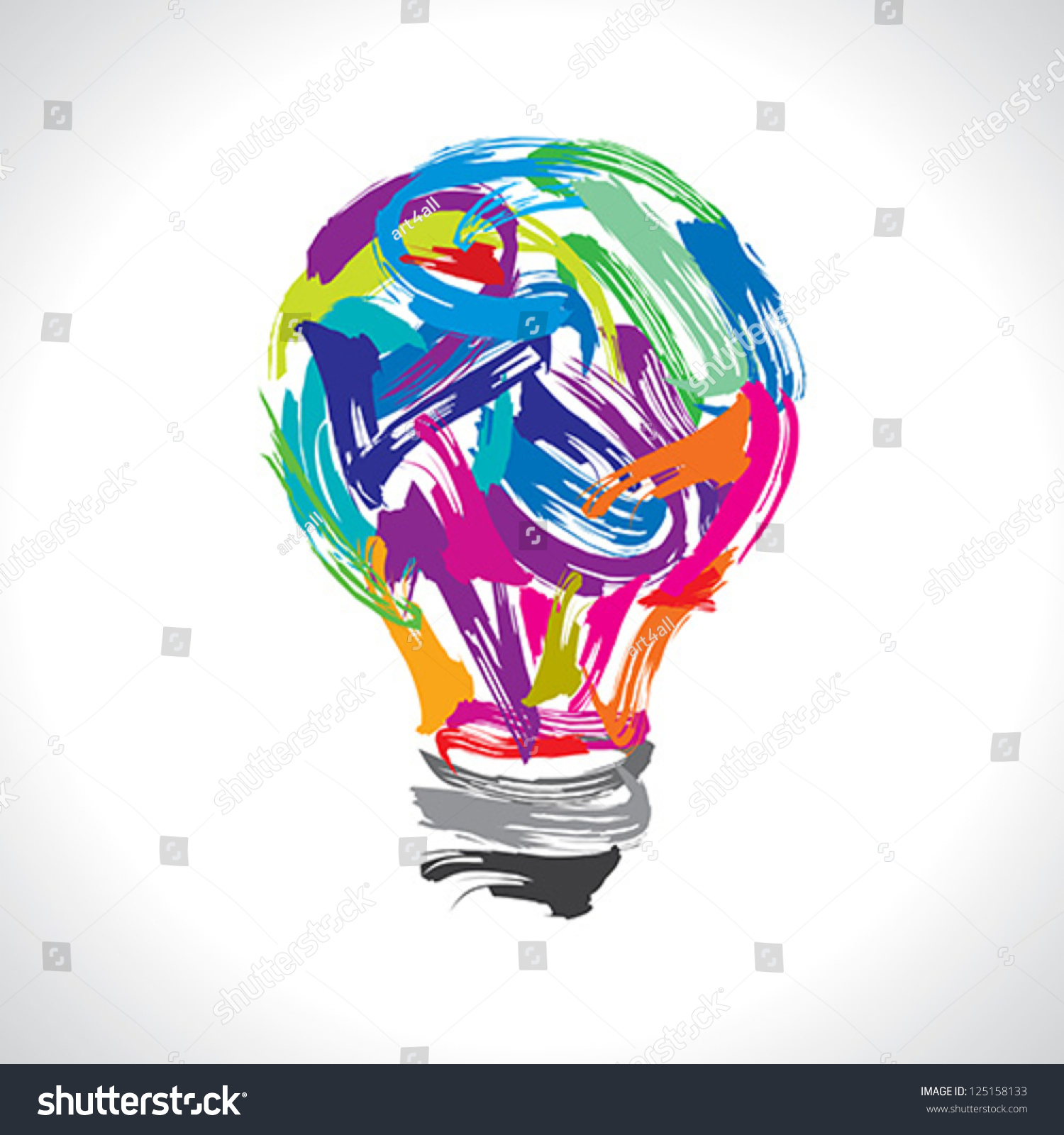 Creative painting idea stock vector 125158133 shutterstock for Creative paintings pictures