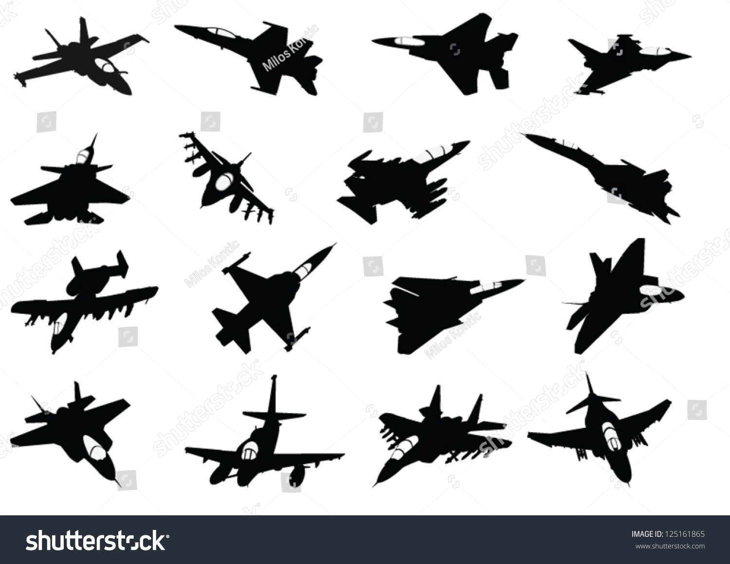 Aircraft Silhouette Set Vector Art &amp- Graphics | freevector.com