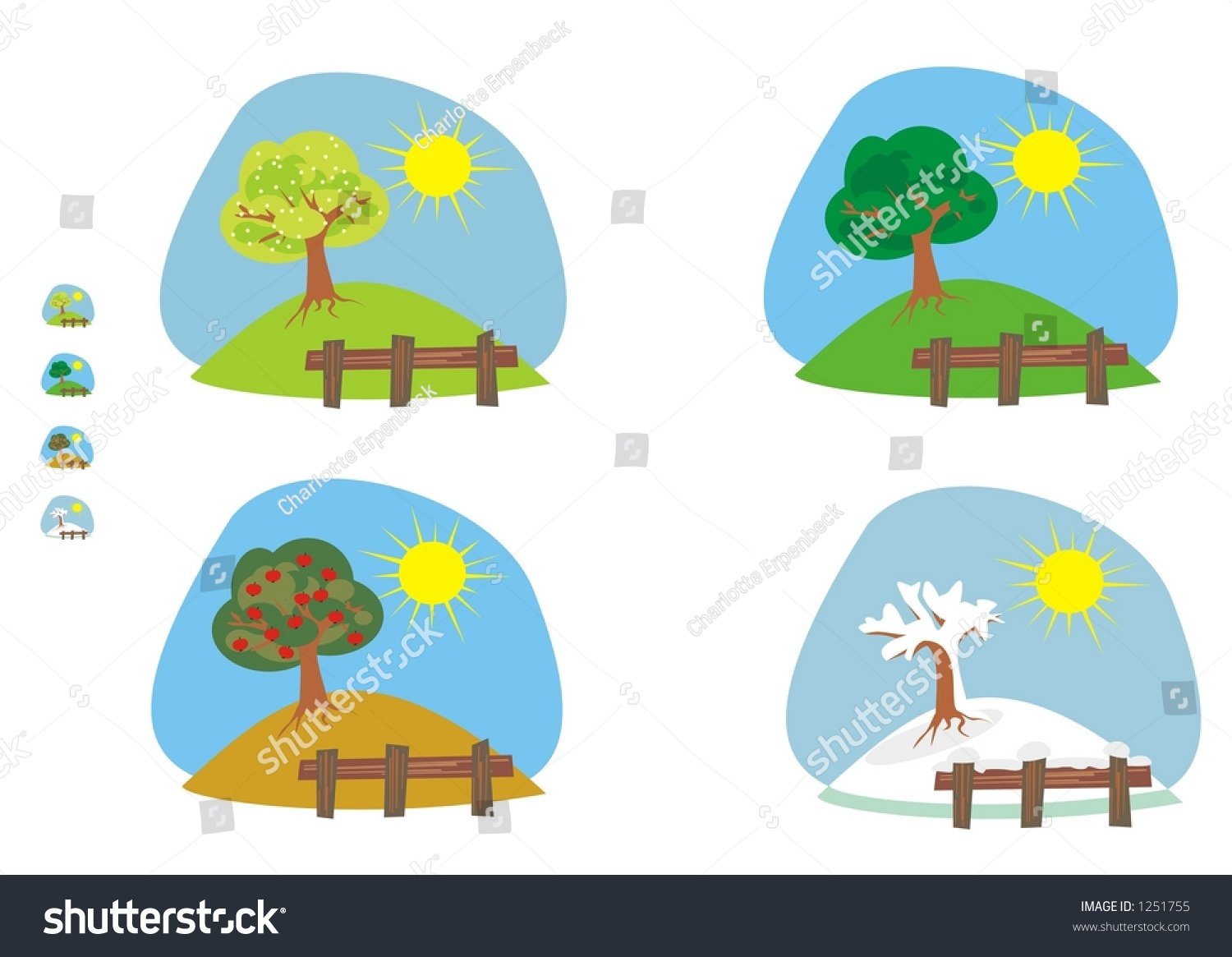 Stock Photo Four Seasons Clipart And Icons