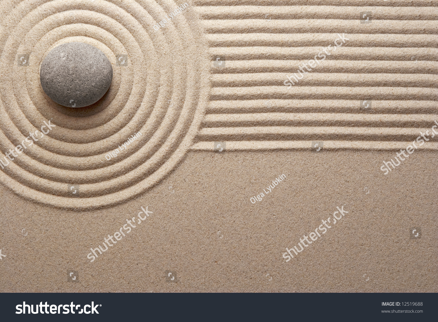 Zen Garden Stock Photo (Download Now) 12519688 - Shutterstock