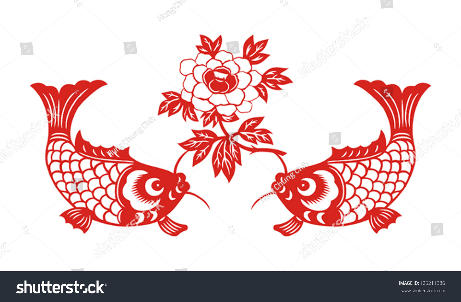 Royalty free auspicious double fish symbol for 125211386 stock auspicious double fish symbol for chinese new year spring festival 125211386 buycottarizona Gallery