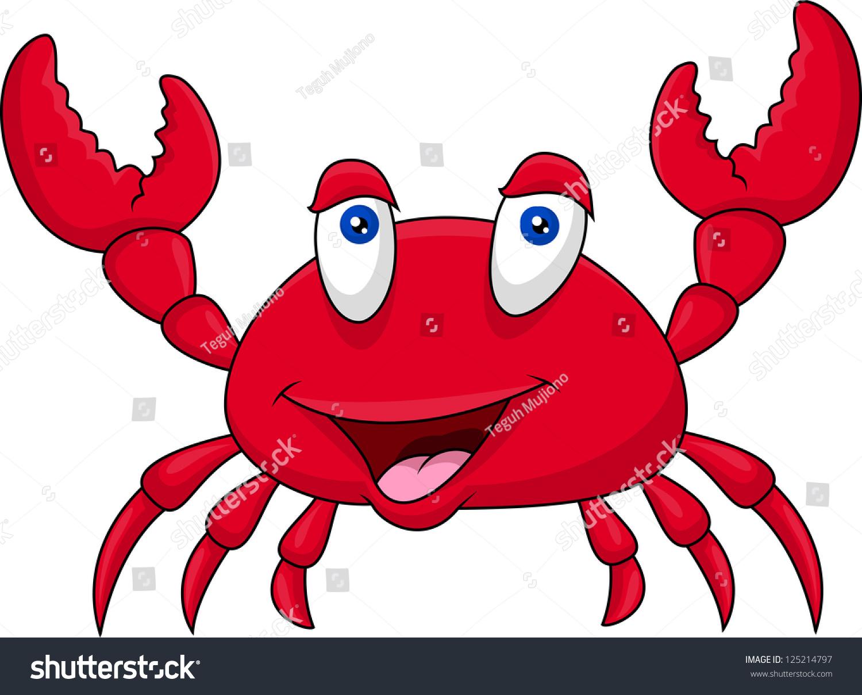 funny crab cartoon stock vector 125214797 shutterstock