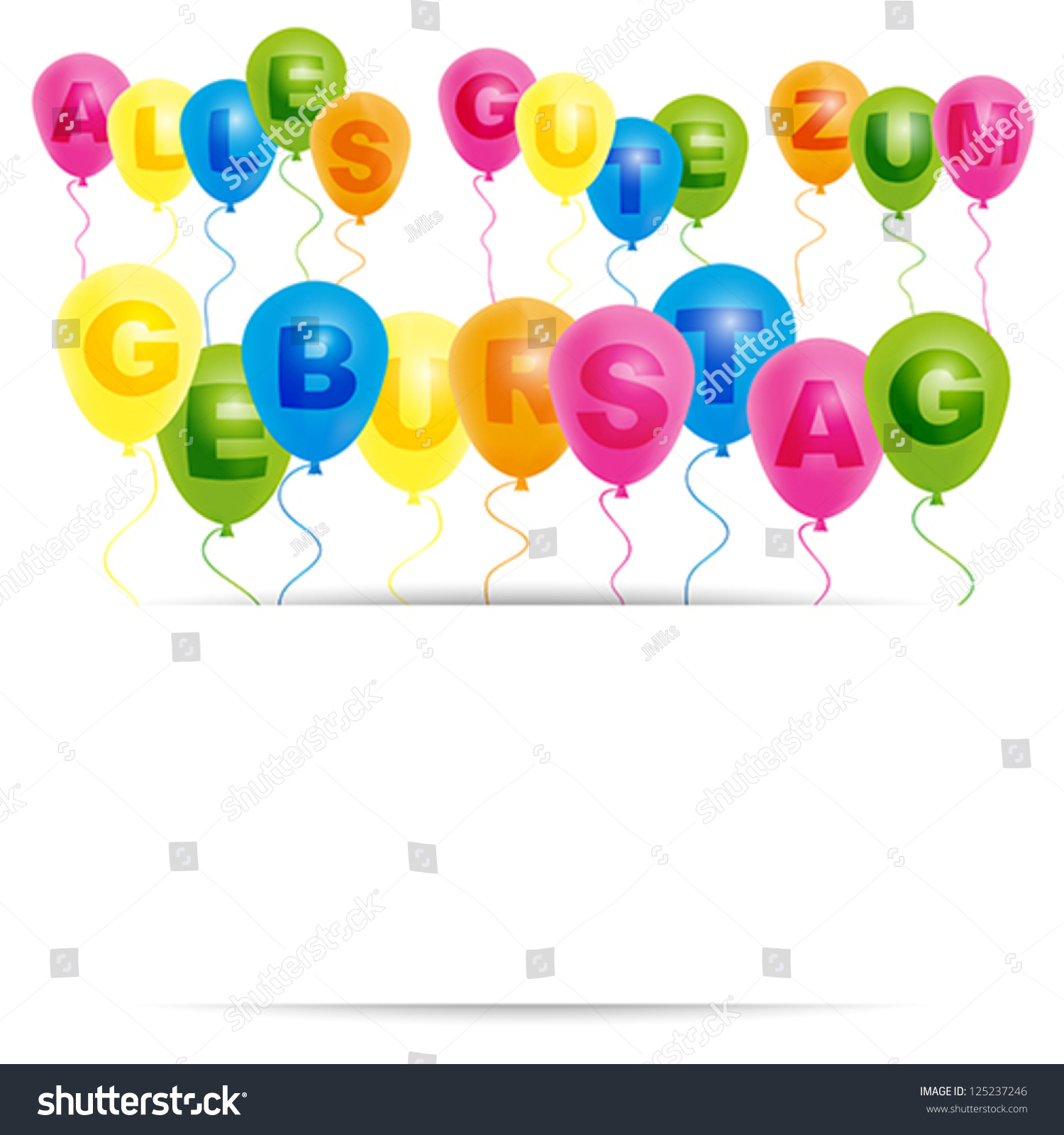card template color balloons happy birthday stock vector royalty