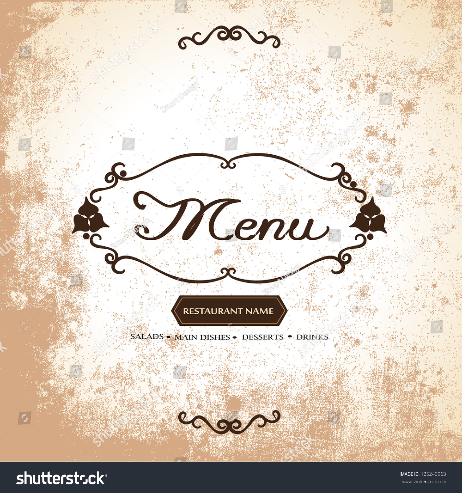 Restaurant Menu Card - Vector illustrator, Graphic Design. Vintage ...
