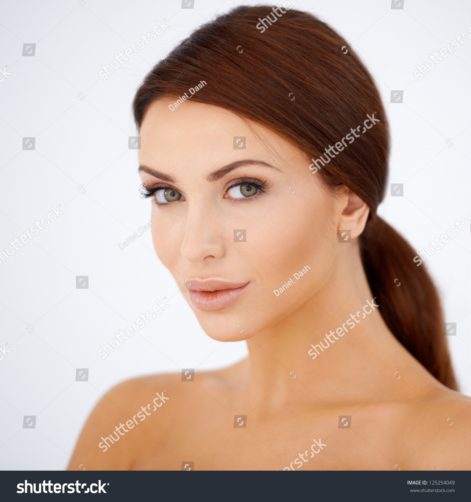 Naked Beautiful Young Woman Coffee Cup Stock Photo