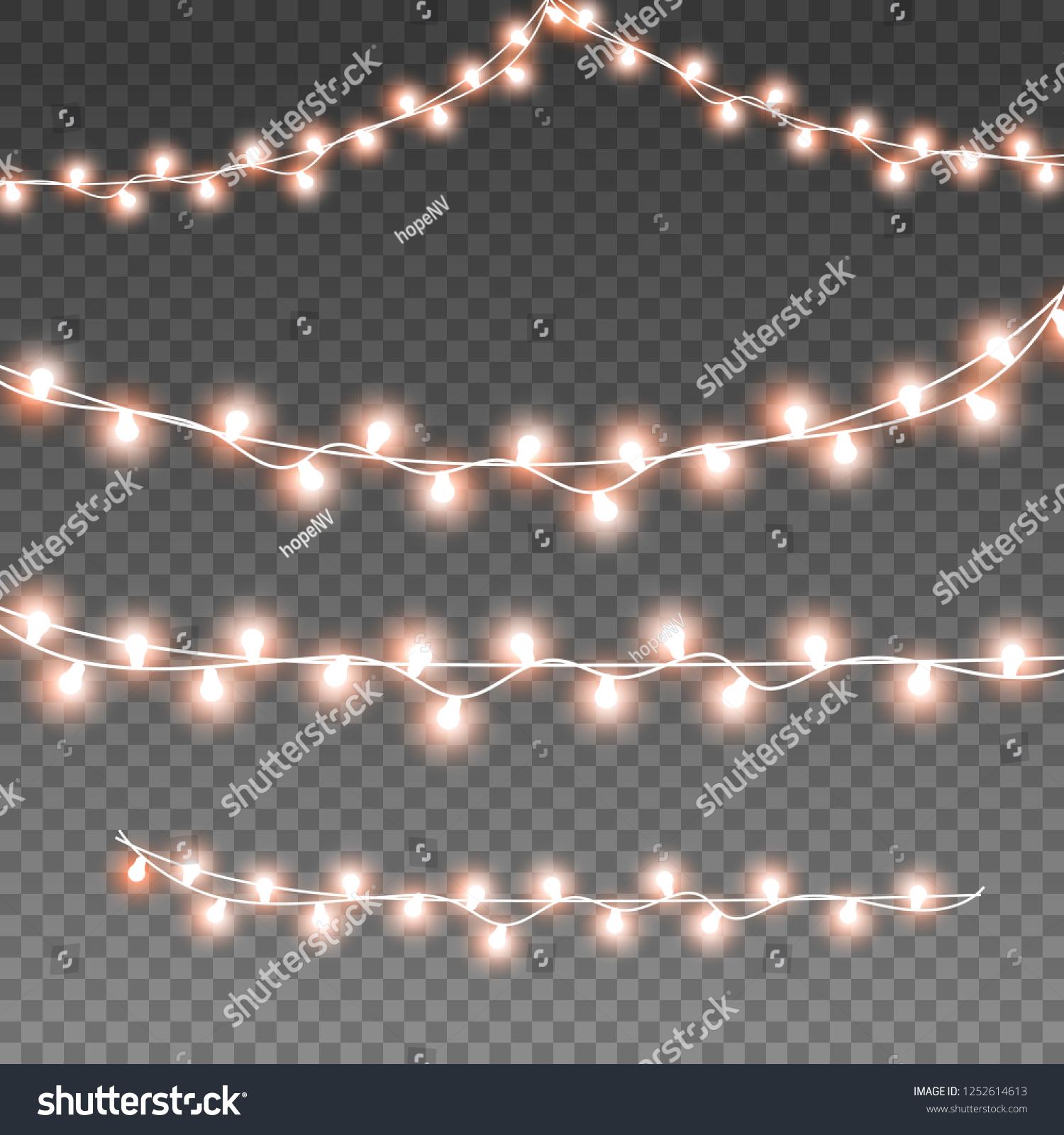Realistic Christmas Lights Bulbs Isolated On Stock Vector Royalty