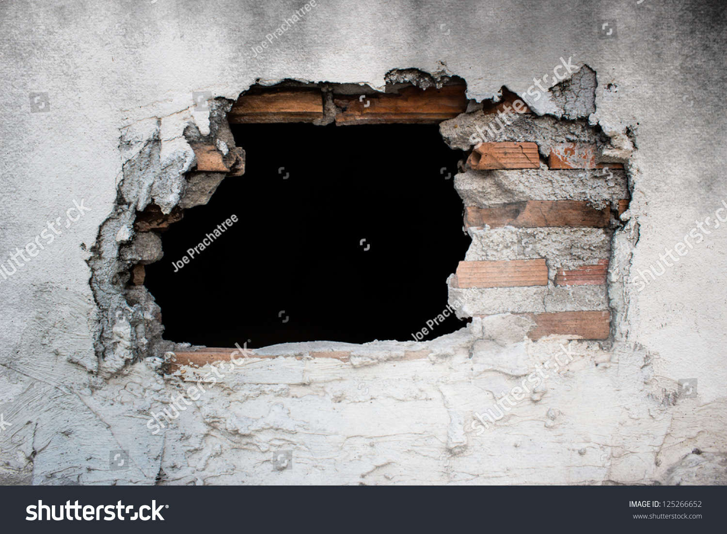 Hole In Concrete Wall : Pin wall brick hole wallpapers photos pictures on pinterest