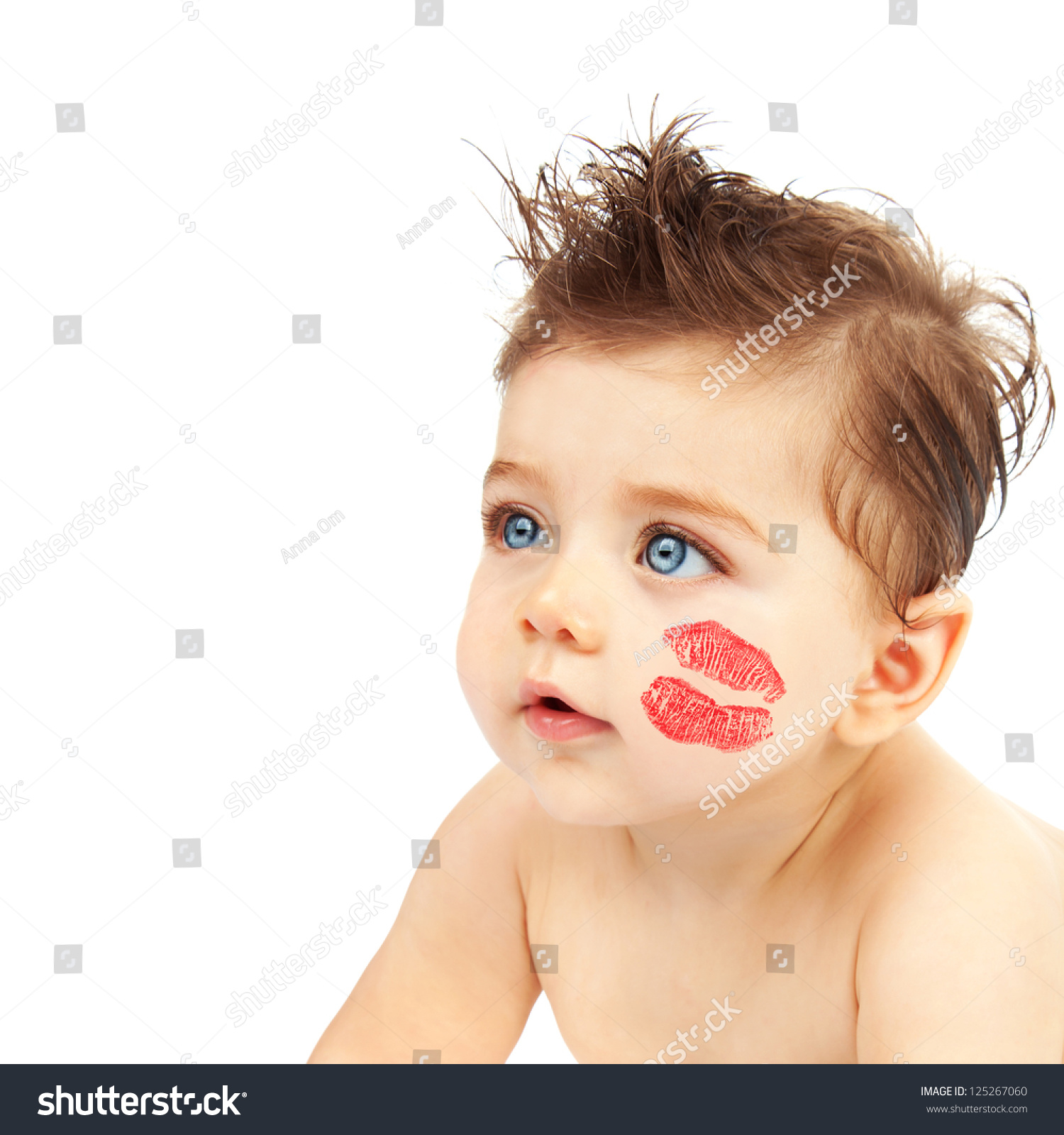 photo cute baby boy red kiss stock photo (edit now)- shutterstock
