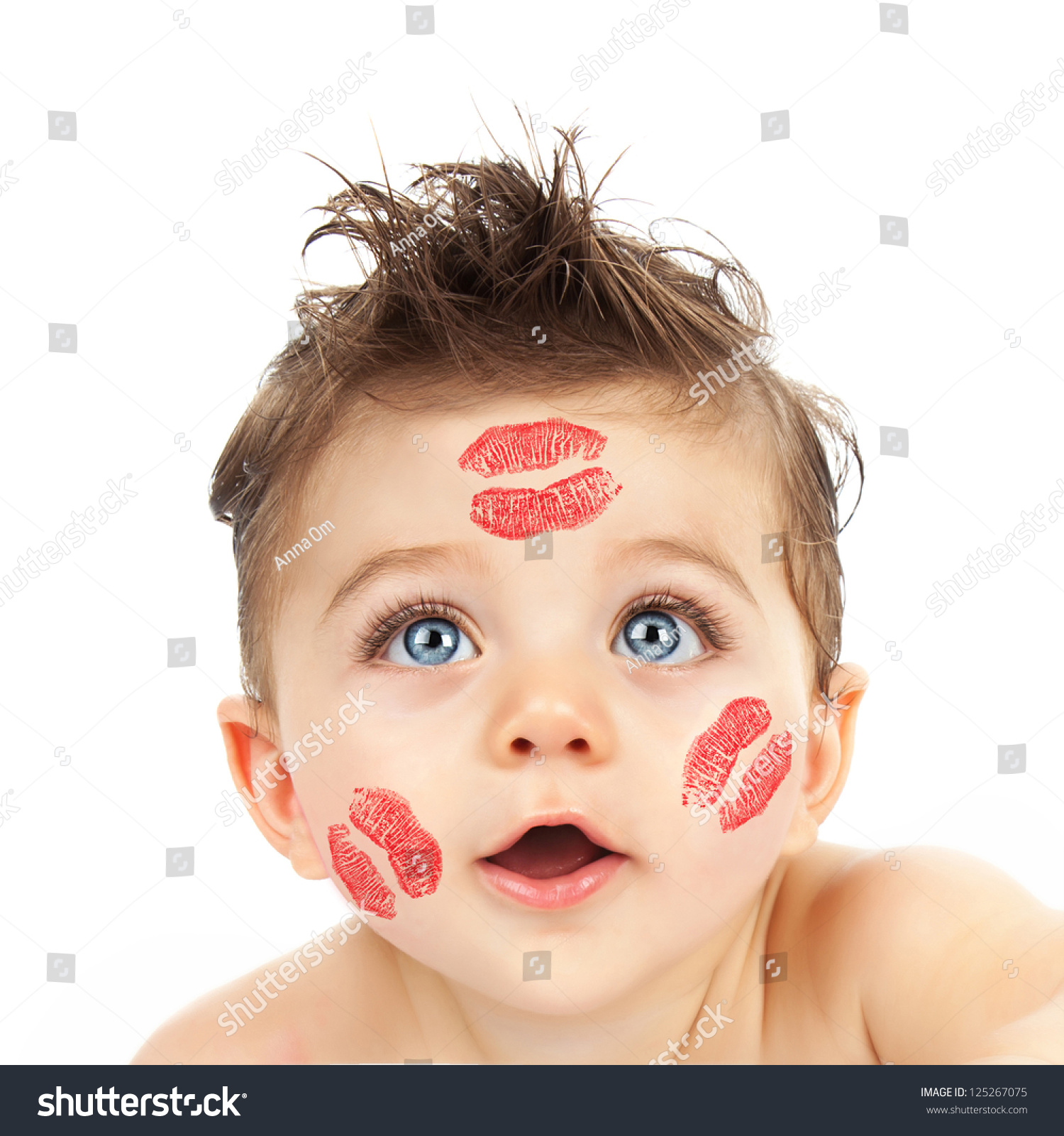 picture small cute cupid closeup portrait stock photo (royalty free