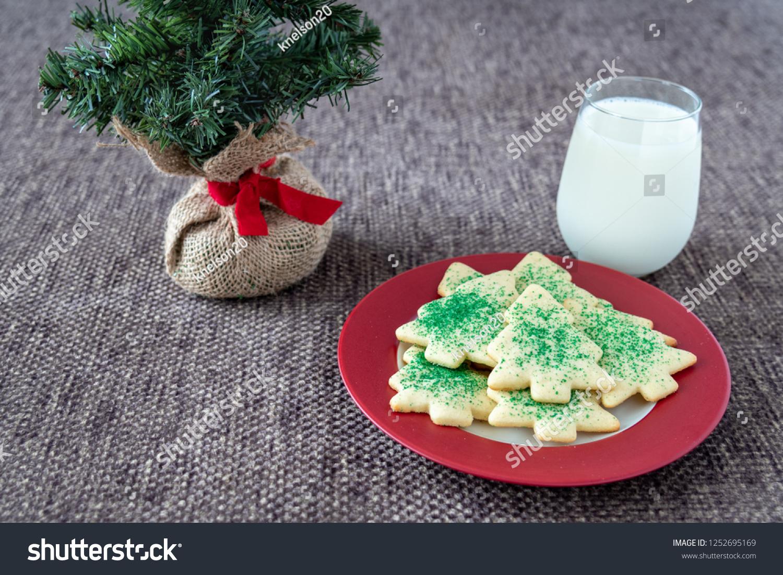 Christmas Tree Shaped Sugar Cookies Green Stock Photo Edit Now