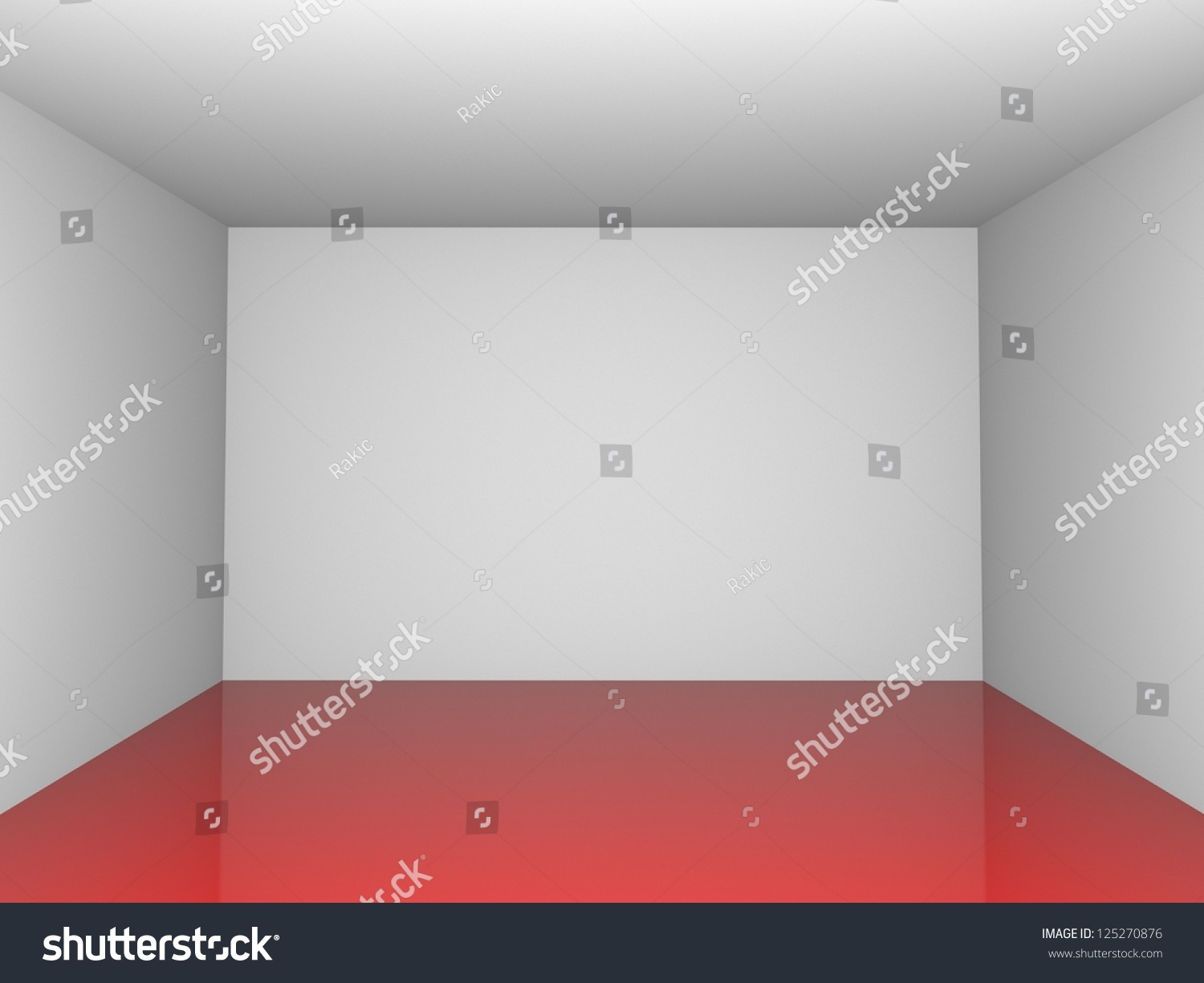 Exhibition Room D : D exhibition room red reflectionh floor stock photo